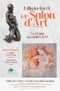 affiche du 64 ème salon Art et Artisanat de Bréval (peinture, sculpture, collage, aquarelle, dessin, photographie). Amateur et professionnel