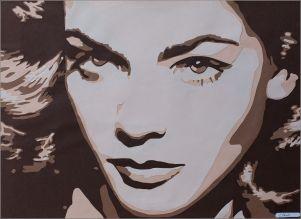 Le regard bleu acier de Lauren Bacall sous mon scalpel... Decoupage collage papier, Carole b