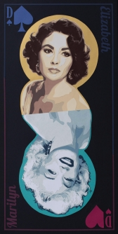 Carole-b-Jeu-de-Dames-dualite-Marilyn-Monroe-Elisabeth-Taylor-carte
