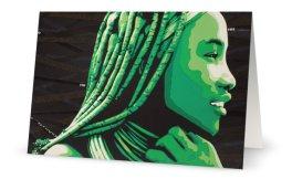 """""""Femme Himba"""" 11,7 x 18,2 cm 11,7 x 18,2 cm carte postale pliée, papier brillant 350 gr, intérieur vierge. Enveloppe fournie"""