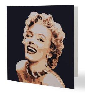 """""""Ma Marilyn"""" 14 x 14 cm, carte postale pliée, papier brillant 350 gr, intérieur vierge. Enveloppe fournie"""