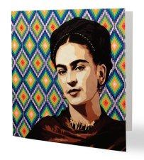 """""""Viva la Frida 2"""" 14 x 14 cm, carte postale pliée, papier brillant 350 gr, intérieur vierge. Enveloppe fournie"""