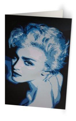 """""""Blue Madonna"""" 11,7 x 18,2 cm 11,7 x 18,2 cm carte postale pliée, papier brillant 350 gr, intérieur vierge. Enveloppe fournie"""