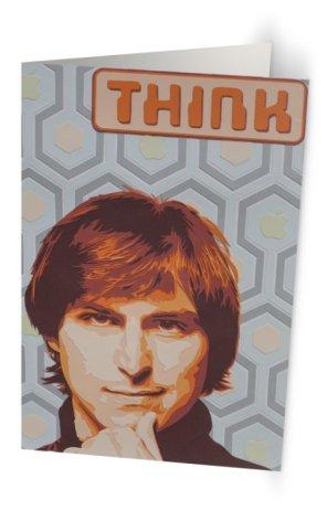 """""""Stevie Jobs Wonders"""" 11,7 x 18,2 cm 11,7 x 18,2 cm carte postale pliée, papier brillant 350 gr, intérieur vierge. Enveloppe fournie"""