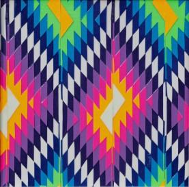 """""""Nuit Mexicaine"""" 2017 - - 20 x 20 cm Découpage collage, papier, vernis.Tableau fourni sans encadrement."""