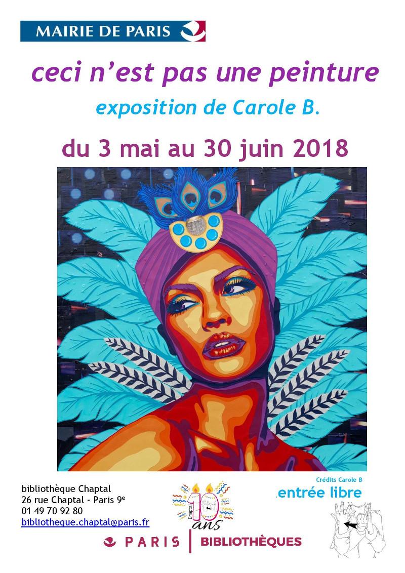 Carole-B-Chaptal-affiche-ceci-nest-pas-une-peinture-decoupage-collage-paris