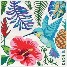 """""""Un Coin de Paradis"""" 14 x 14 cm, carte postale pliée, papier mat 300 gr, intérieur vierge. Enveloppe fournie"""
